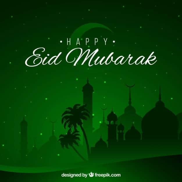 happy eid mubarak background green design 23 2147633261