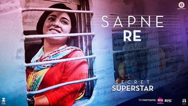 Sapne Re | Secret Superstar | Aamir Khan | Zaira Wasim | Amit Trivedi | Kausar Munir | Meghna